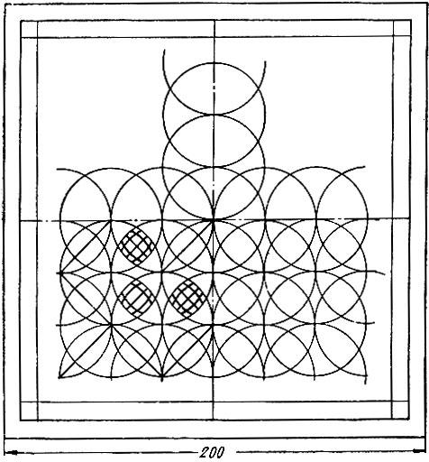 Схема расчерчивания сетки из