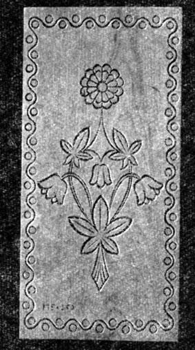 орнамента контурной резьбы