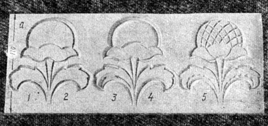 Схема выполнения цветка